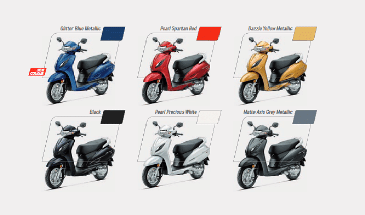 2020 Activa 6G BS6 Colours