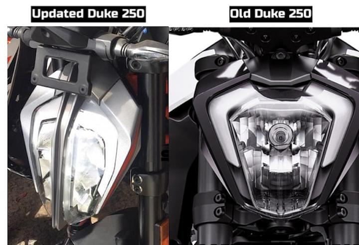 KYM Duke 250 LED Headlights Image