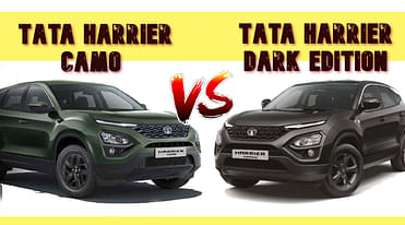 Tata Harrier Camo Vs Dark Edition - What Are The Differences Between The Two?